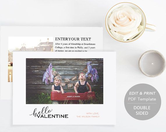 Printable Love Card  Valentine Card Template by SmittenPaperProps