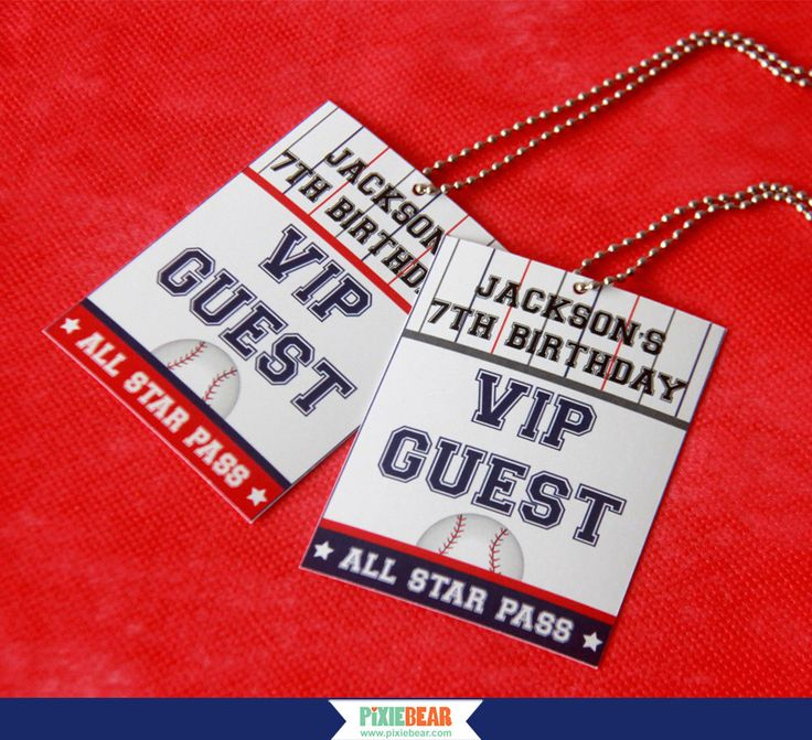Baseball Birthday VIP Passes - Baseball Party VIP Pass - All Star Party VIP Pass - Sports Party - Boy Party Decorations (Instant Download) by PixieBearParty on Etsy https://www.etsy.com/listing/224904494/baseball-birthday-vip-passes-baseball