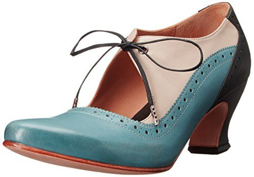 John Fluevog Women's Lyra Dress Pump, Blue/Ivory, 10.5 M US