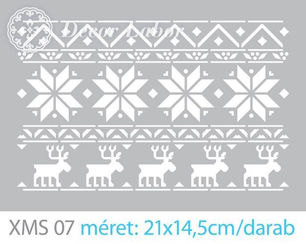 scandinavian chrismas pattern - christmas stencil - karácsonyi stencil decorlabor.hu/