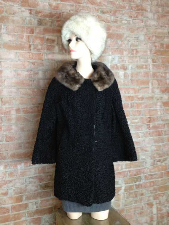 Vintage Persian Curly Lambs Wool Fur Coat by TheJavaShop on Etsy, $85.00