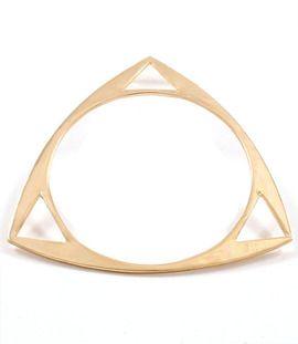Gold Triangle Bangle