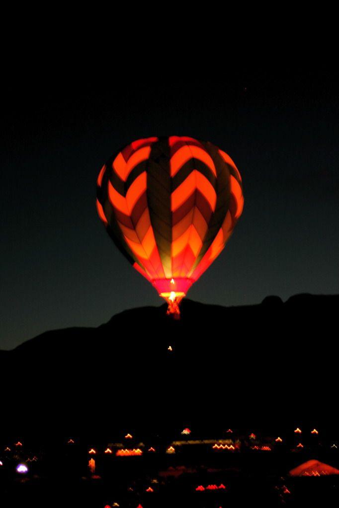 Albuquerque, New Mexico - Balloon Glow at the Albuquerque Balloon Fiesta Photo Credit:  Randy Toltz, AdjustYourLatitude.com