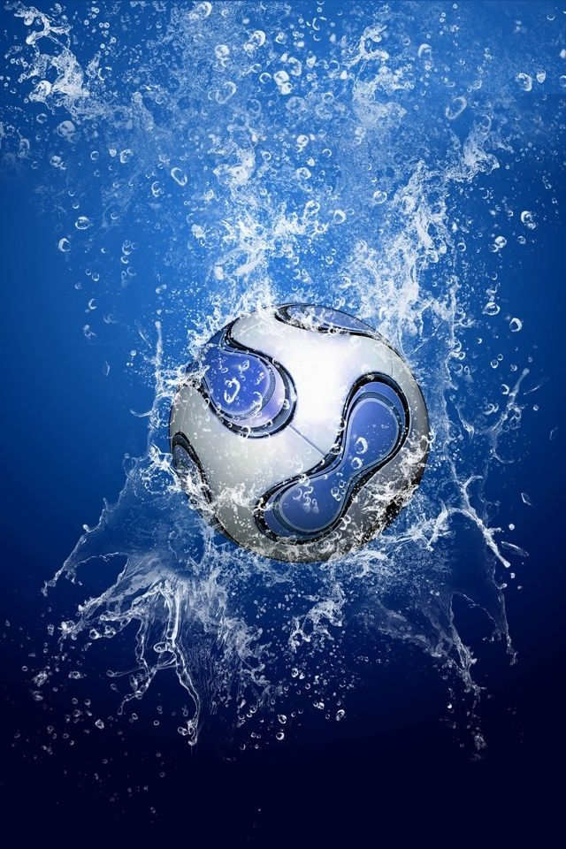 hd water and football iphone 4 wallpapers