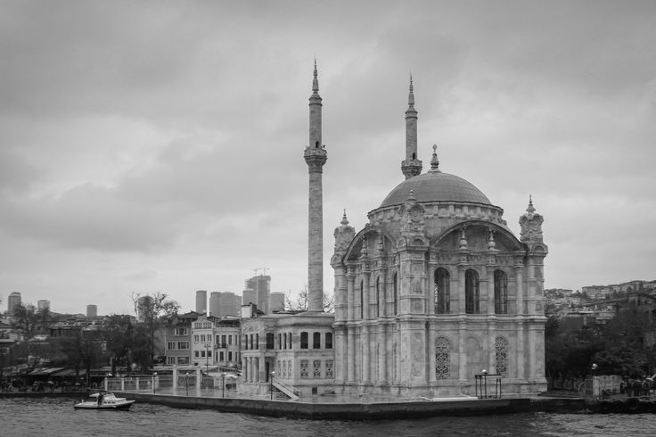 Shore mosque Istanbul Turkey