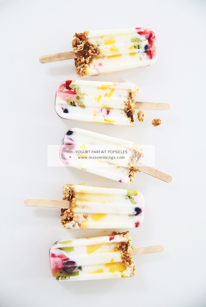 Create fun yogurt Popsicle's! Healthy and they make such a gorgeous dessert!