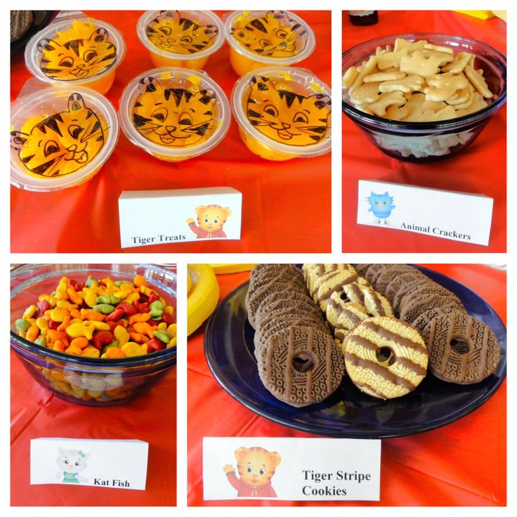 Daniel Tiger birthday party food