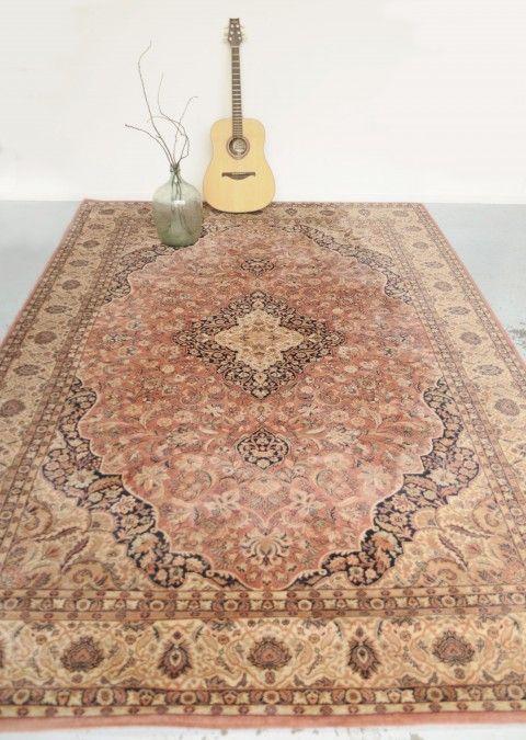 Vintage wollen Perzisch rood roze tapijt - Soekis