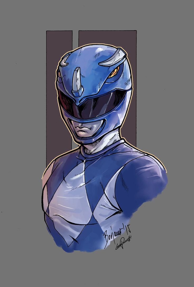 Po po power ranger pages to color - Mighty Morphin Power Rangers Blue Color By Le0arts On Deviantart