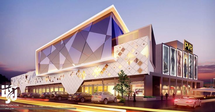 #mall #pvr #cinema #exteriordesign #3drendering #streetview #nightview #ArchDaily #archilovers
