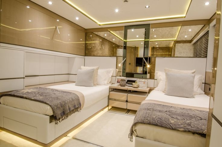 Make the sleeping areas in the cabin with comfort to the feet #Flooring #LuxuryCarpet #InteriorDesign