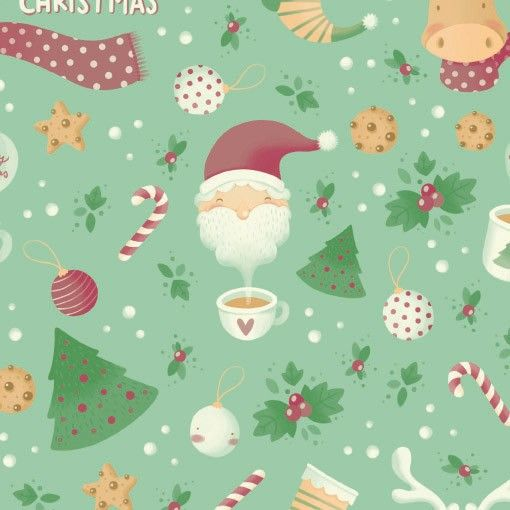 Fantasia di Natale wrapping paper, designed by Elisa Ferro #christmas #gift #wrap