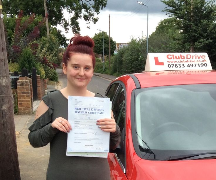 """An absolutely fantastic and extremely well deserved first time driving test pass by Chelsea today, at Slough test centre! Chelsea has worked incredibly hard and shown so much determination to pass... a very proud day! Chelsea left me a lovely comment on Facebook: """"Thank you so much Debbie Brewer couldn't have done it without you xx"""" www.clubdrive.co.uk #drivingtestpass"""