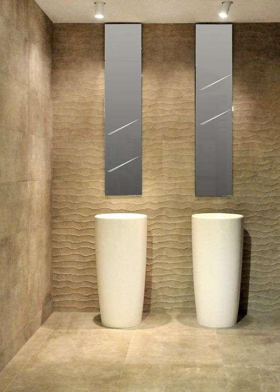 nowoczesna płytka z efektem 3d i wzorem fali