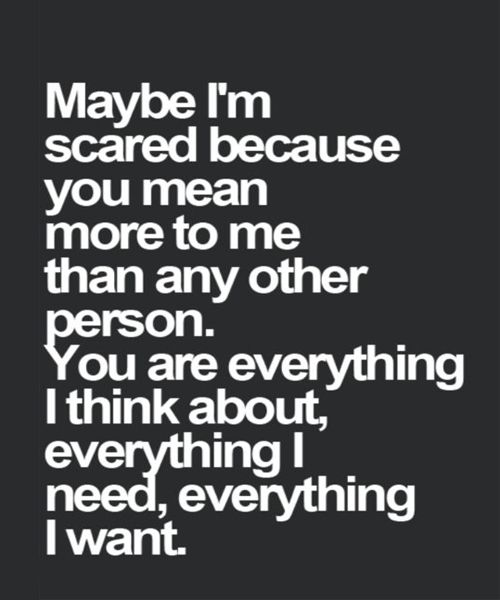 You Are Everything I Think About – Romantic Love Quote