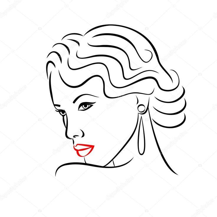 Silueta ženy tvář. Abstraktní módní koncept — Stocková ilustrace #86169916