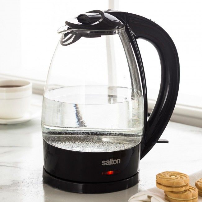 With clear and elegant Shott Duran glass construction, the Salton Cordless Glass Kettle is a modern and stylish addition to any kitchen.