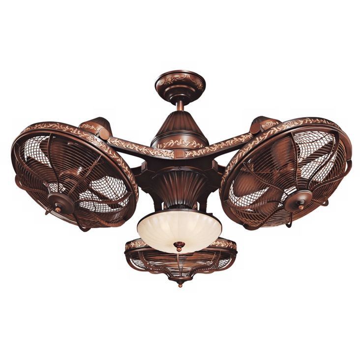38 Esquire Rich Bronze Finish 3 Head Ceiling Fan Style 99349
