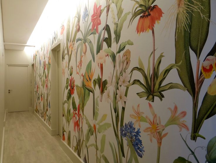 Feature wall to corridor. Micro hotel. The Parkhouse. Cape Town