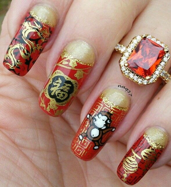 Chinese New Year Nail Art Design Monkey The Best Inspiration For