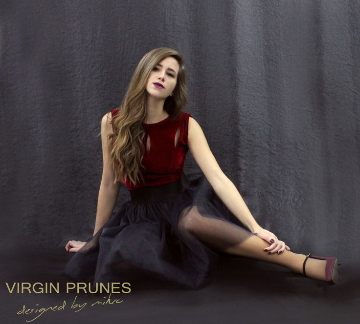 ✨ Winter dreams are better in Velvet! ✨ VIRGIN PRUNES designed by Mikro Red Velvet Body (also in Blue and Black) + Black Tulle Skirt