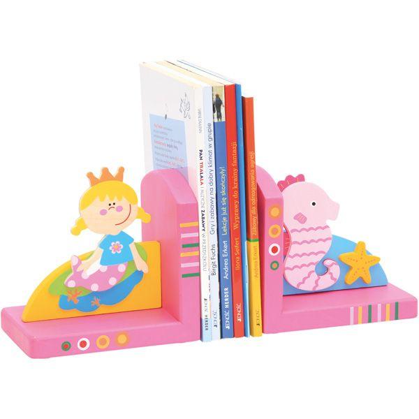 Drewniane podpórki na książki #creative #book #fun #kids  http://www.mojebambino.pl/biblioteczki/7363-drewniane-podporki-do-ksiazek-syrenka-lub-piraci.html