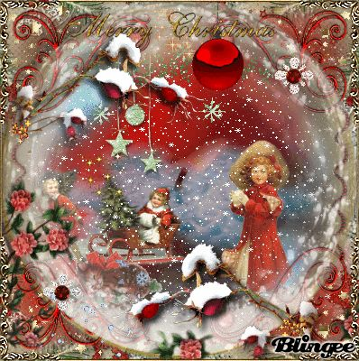 Vintage Christmas Snowglobe my Art Jane's Doll Closet