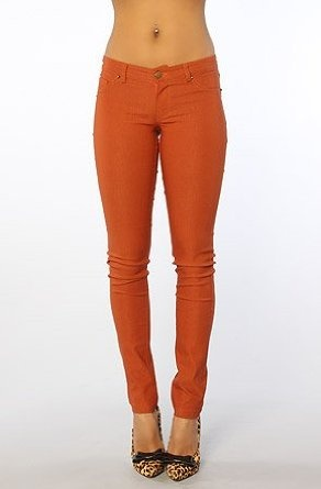 Style Hunter The Off With Your Head Skinny Pants with Studs #orange