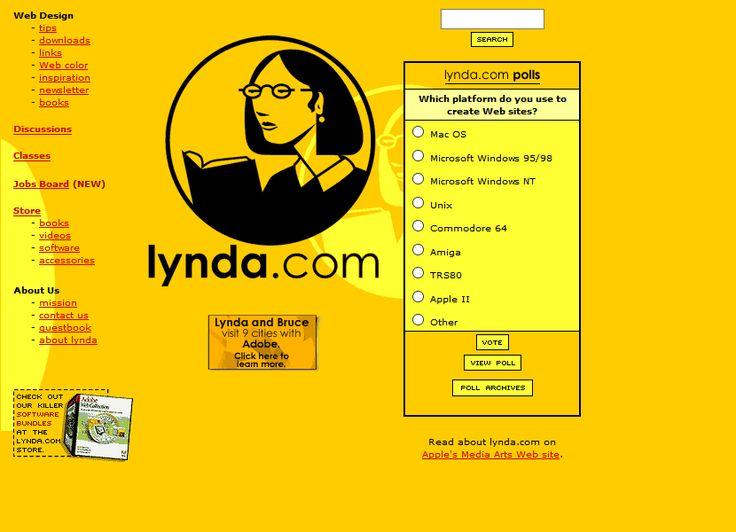 Lynda.com website in 1999