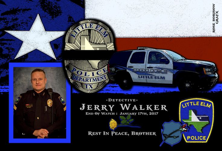 Chief Rodney Harrison, of the Little Elm Police Department in Texas, sadly reports the death of Detective Jerry Walker.  http://www.lawenforcementtoday.com/in-memoriam-detective-jerry-walker/