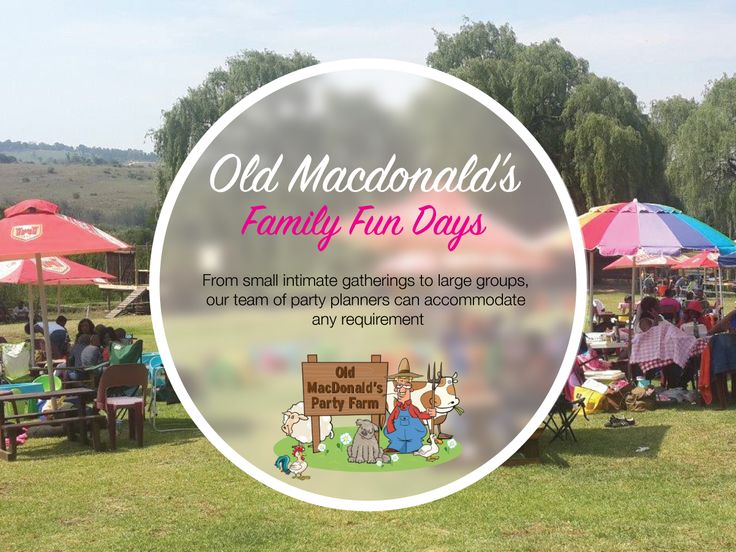 The facilities at Old MacDonald's Party Farm are perfectly suited for year-end celebrations, family fun days, corporate functions and team building activities.
