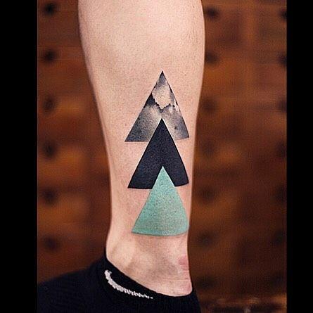 Three-Triangles-Tattoo-on-Ankle-by-New-Tattoo.jpg (445×445)
