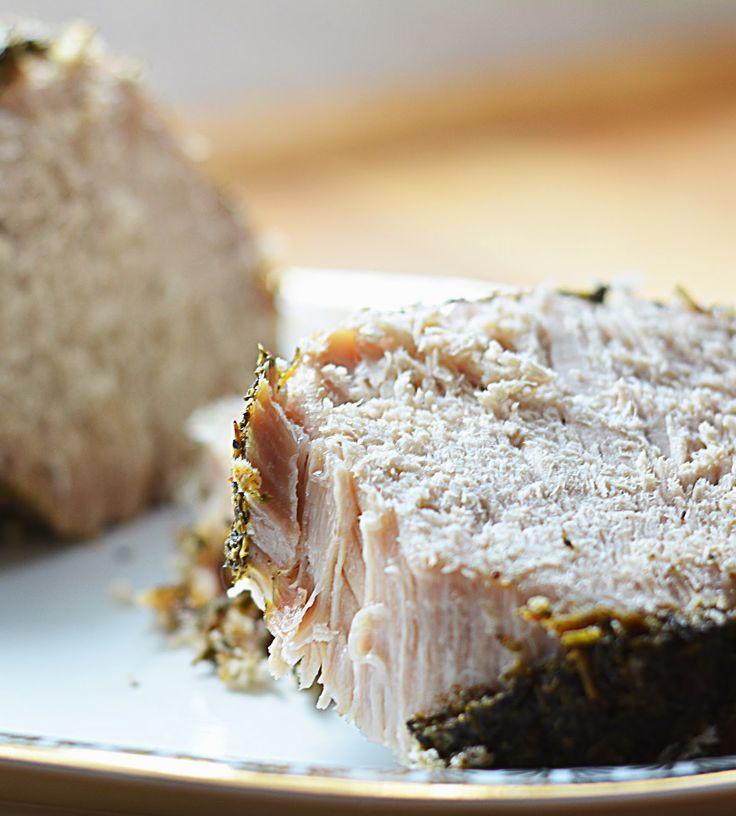 Krakowskie smaki Ani: Schab w ziołach gotowany na parze