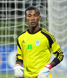 Mohamed Soighir Chabane of Comoros during the Cosafa u20 Youth Championship Group A game between Lesotho and Comoros at Setsoto Stadium, Maseru in Lesotho on 3 December 2013 ©Ryan Wilkisky/BackpagePix