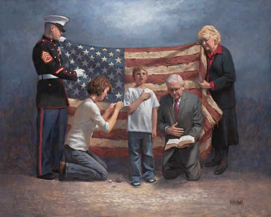 """Jon McNaughton - my favorite political artist - """"Mending The Nation"""" - each person representing a virtue that is needed if we want our nation to be healed."""