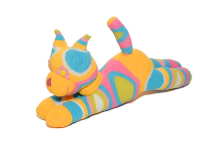Sockamals -Novelty animals created from socks. All items are handmade and designed by Rose herself.    These cuddly are very popular with tourists and bring a smile to everyone's face. Toys' prices £6-£15  Wednesdays & Fridays. Cat toy £10