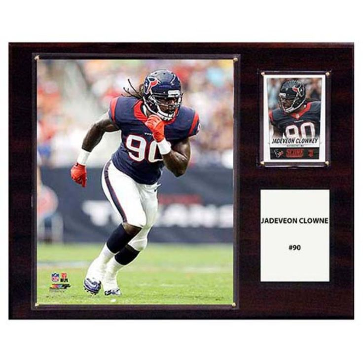 C and I Collectables NFL 15W x 12H in. Jadeveon Clowney Houston Texans Player Plaque - 1215CLOWNEY