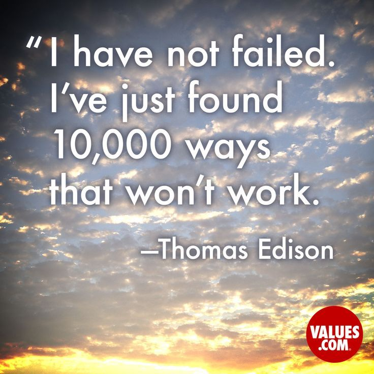 Our children will miss a goal on occasion; it is their response that will enable them to realize their maximum potential.   An inspirational quote by Thomas Edison from Values.com