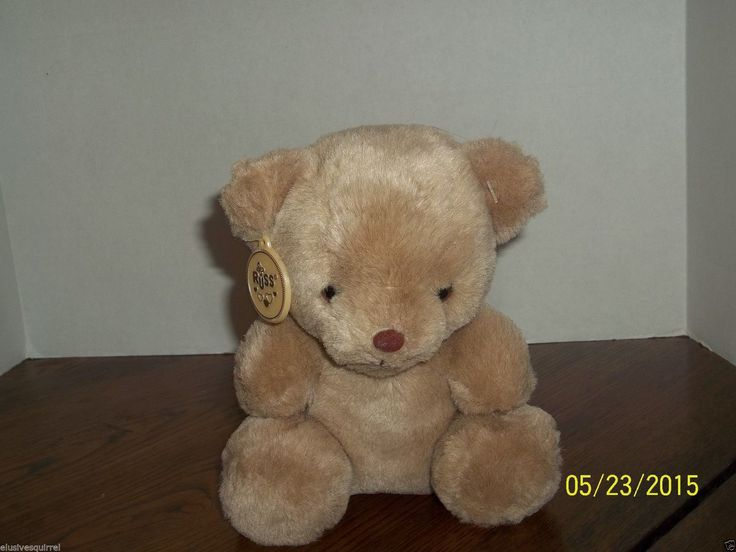 RUSS BERRIE TAN COOKIE TEDDY BEAR PLUSH WITH PLASTIC TAG | eBay