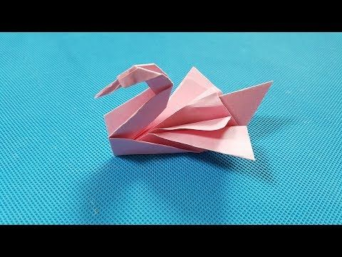 折纸王子教你折纸优美天鹅 美丽 讲解详细 简单易学 给孩子做玩具Origami tutorial - YouTube