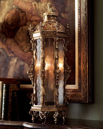 Gothic Tall Table Lantern by John-Richard Collection at Horchow.
