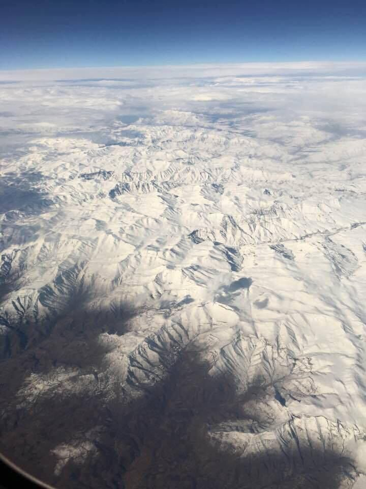 The Maluti Mountains after the heaviest snowfall in 20 years. Photo credit: Mark Rouncivell, via Snow Report SA.