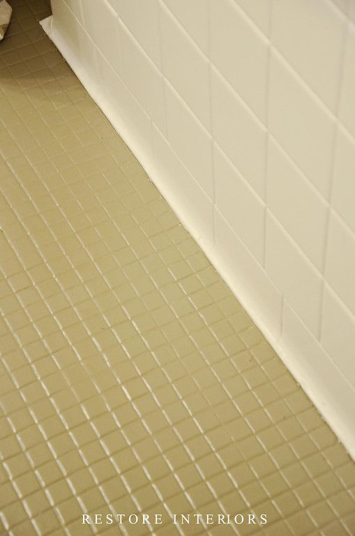 Painting Ceramic Floor Tile In Bathroom : Best ideas about painting bathroom tiles on