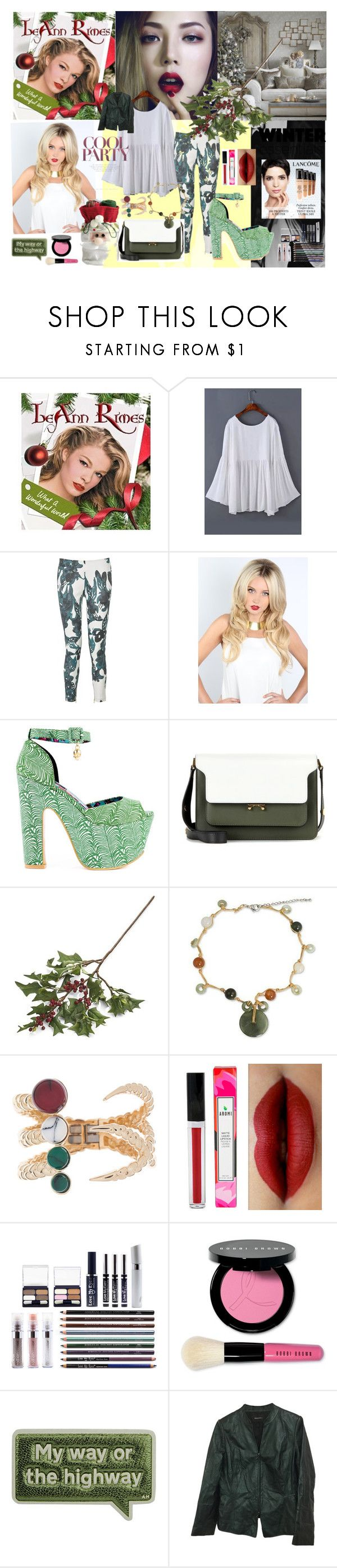 """#50: I miss you like Christmas - Leann Rimes"" by sarah-m-smith ❤ liked on Polyvore featuring DAY Birger et Mikkelsen, Iron Fist, Marni, Crate and Barrel, NOVICA, Eshvi, Bobbi Brown Cosmetics, Anya Hindmarch, Lafayette 148 New York and country"