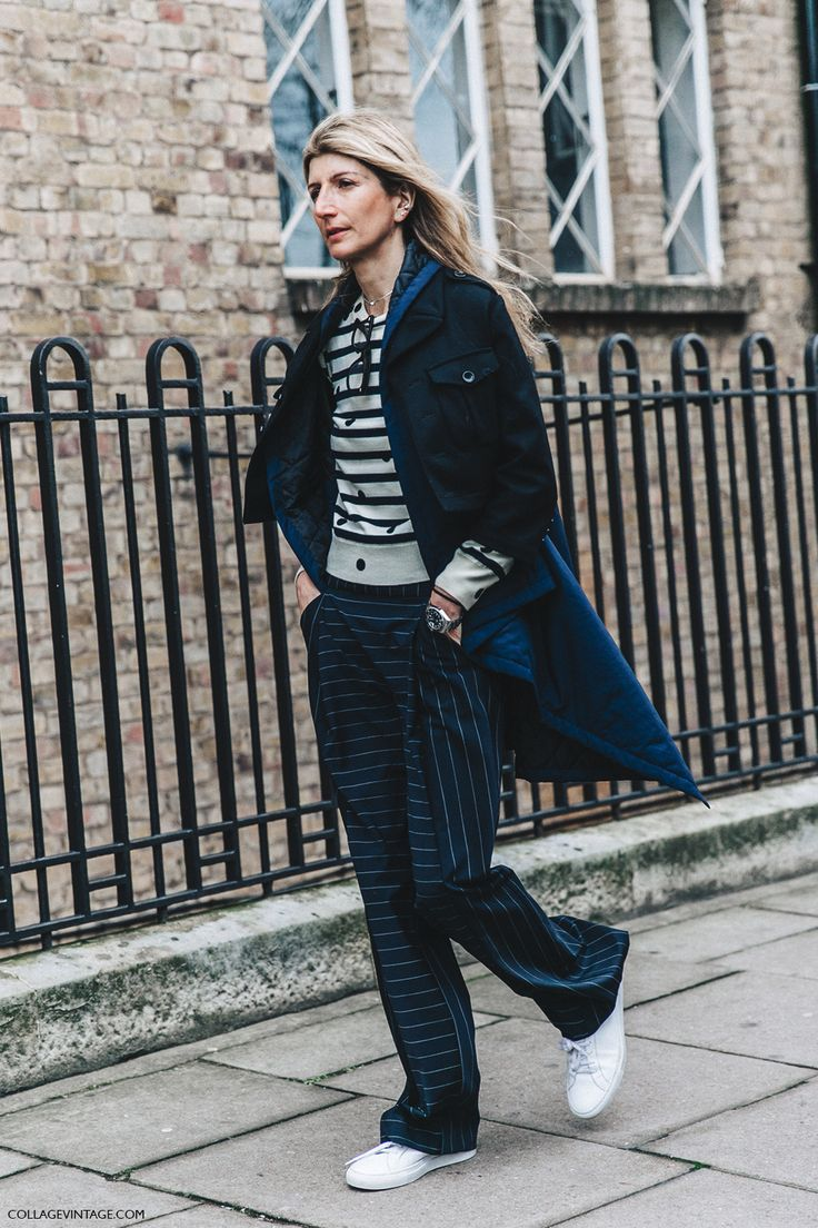 LFW-London_Fashion_Week_Fall_16-Street_Style-Collage_Vintage-Sarah_Ruston-Stripped_Trousers-1