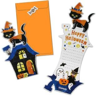 Halloween Black Cat Card Set,Craft Cards,Card,Halloween,pumpkin,Pumpkin ,Mechanism,cat