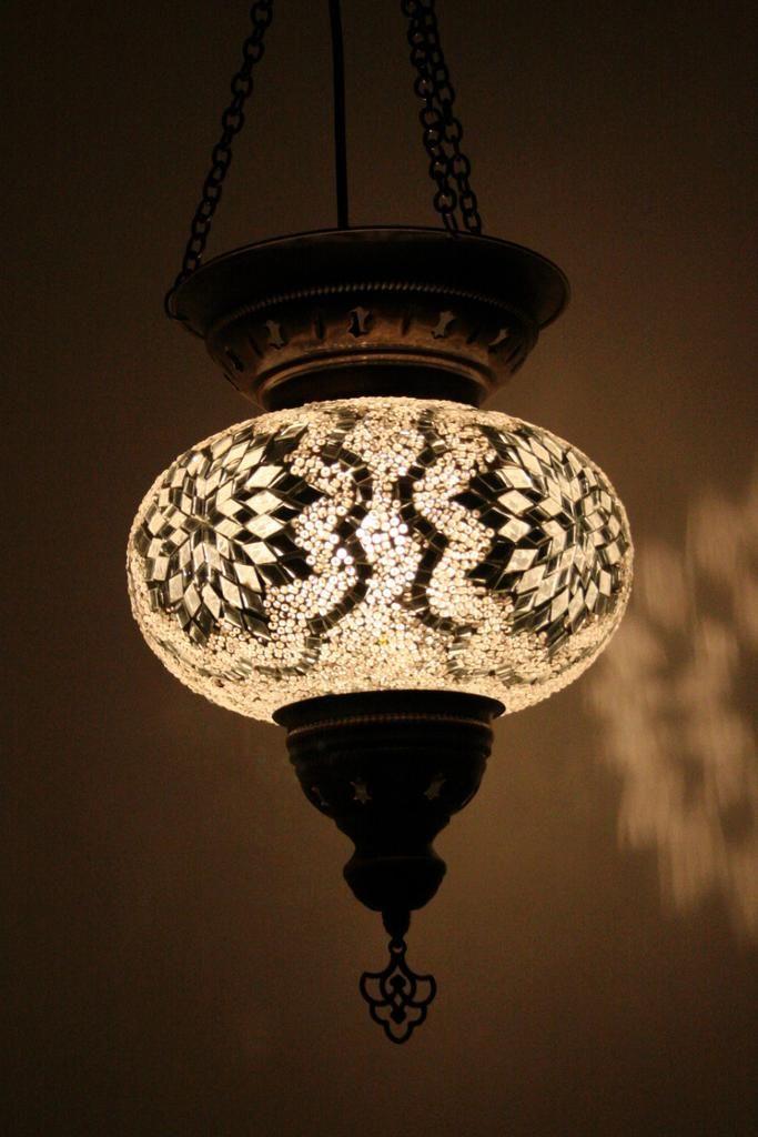 White Glow Turkish Lamp