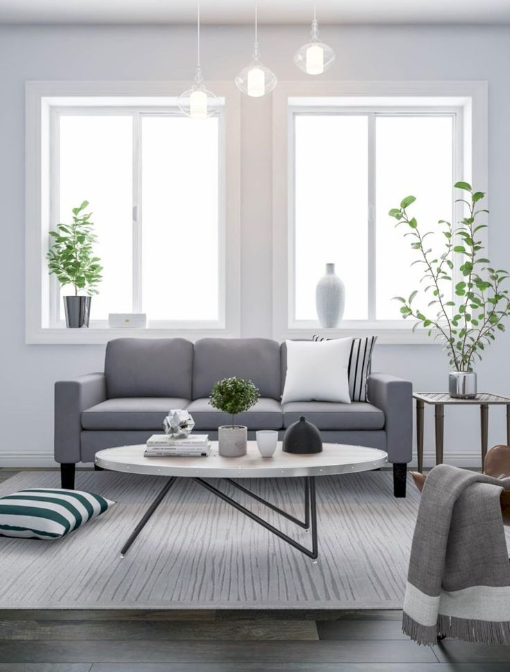 47 charming gray living room design ideas for your