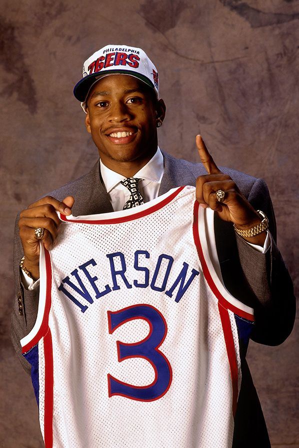 June 26, 1996 - …and with the first pick in the 1996 NBA Draft, the Philadelphia 76ers select Allen Iverson, from Georgetown University.