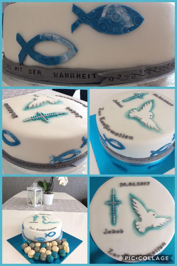 Konfirmationstorte Fondant/ confirmation cake